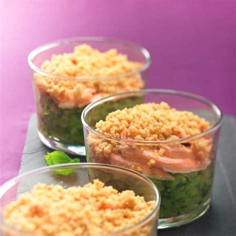 recette de crumble salé recette crumble de courgettes aux deux saumons cuisine
