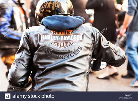 Harley Davidson Sign Motor Bike Leather Jacket Worn By