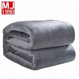 2017 High quality Solid Color Bed Blanket Coral Fleece ...