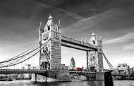 Tower Bridge London Black and White
