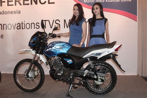 Tvs Max 125 Semi Trail 2019 by Spotted Tvs Road Adventure Bike Is Indonesia Spec Max