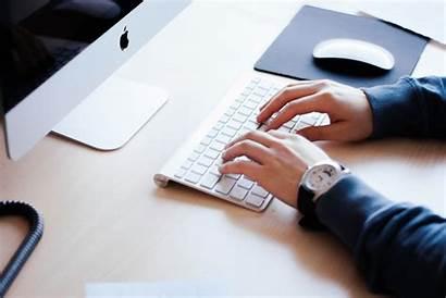 Office Worker Typing Keyboard Computer Hands Shutterstock