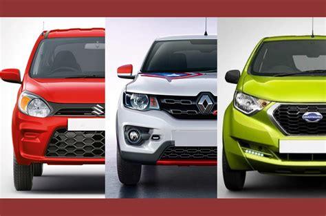 alto price compared  kwid  redigo autocar india