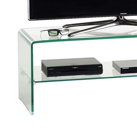 porta tv cristallo mobile porta tv in vetro cristallo curvato design fancy