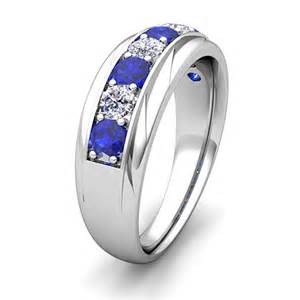 mens sapphire wedding bands my and sapphire mens wedding band ring in 14k gold