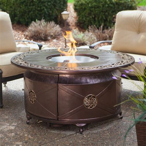 propane gas fire pit outdoor table by blue rhino propane gas fire pit fire bowl round table glass beads