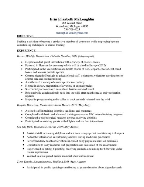 veterinary technician cover letters  resumes