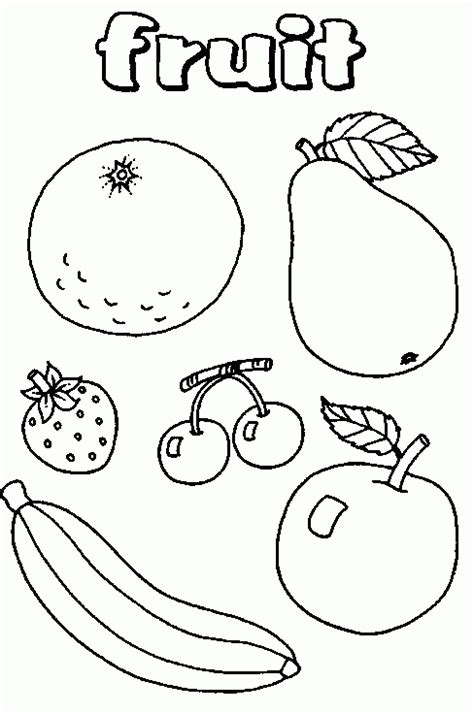 Citroen Fruit Kleurplaat by Kleurplaten Fruitmand