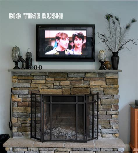 decorating fireplace mantel with tv above poe inspired mantel diy fall scrap sign