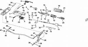 Johnson Steering  U0026 Shift Handle Parts For 2000 30hp J30rssr Outboard Motor