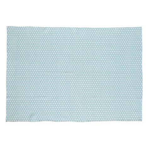 tapis en coton bleu 60 x 120 cm origami maisons du monde