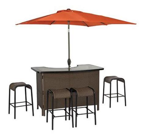 living accents corona wicker bar 6 set outdoor bar