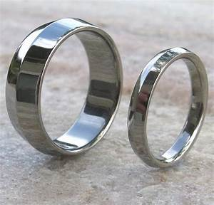 matching titanium wedding band set stn7 titanium With titanium wedding ring set