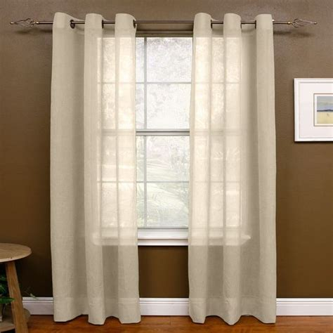 108 inch drapery panels shop miller curtains 108 inch sheer grommet panel