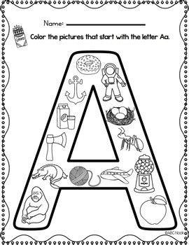 beginning sounds coloring pages by abc nook teachers pay