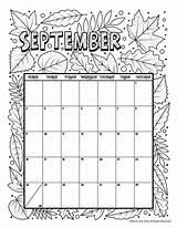 Calendar Coloring Printable September Woojr Pages 2021 Activities Printables Calender June Sep Monthly Template Woo Print Jr August Blank Preschool sketch template