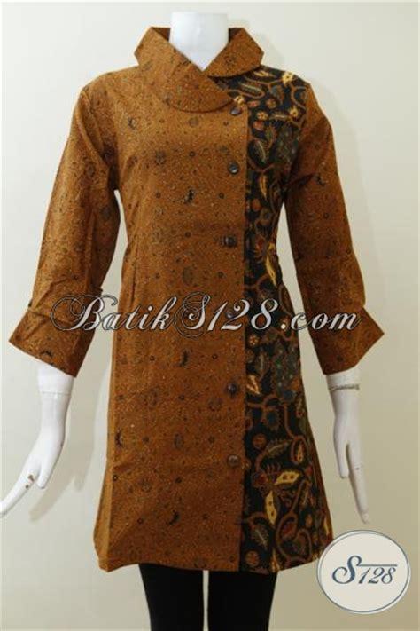 baju batik kombinasi tulis  wanita dewasa dress