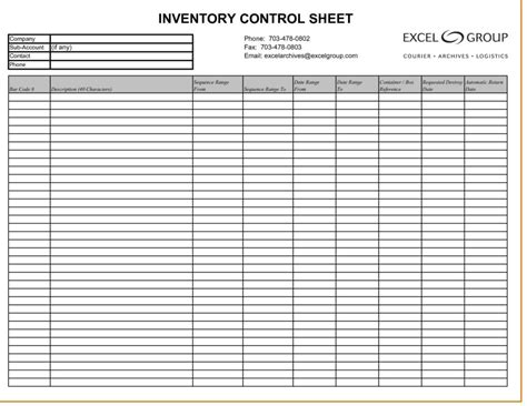 Inventory Template Inventory Spreadsheet Template Spreadsheet Templates For