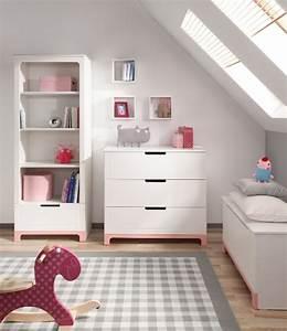 Commode Chambre Fille : pinio mini rose fille 5 meubles lit 160x70 commode armoire 2 portes grande biblioth que ~ Teatrodelosmanantiales.com Idées de Décoration