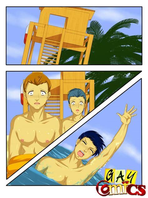 Slim Gay Cartoon Boys Kissing Each Other at the Seashore - Cartoon Porn Videos