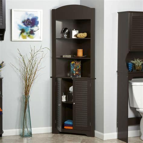Corner Bathroom Storage Cabinets by Espresso Bathroom Linen Tower Corner Towel Storage Cabinet