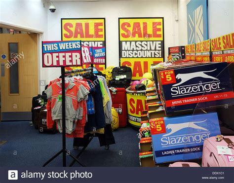 sale items   sports direct store uk stock photo