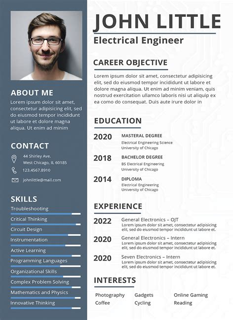 electrical engineer resume sample  templates