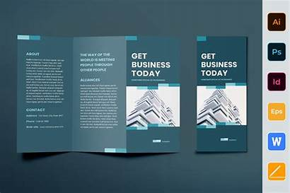 Brochure Template Business Networking Indesign Fold Trifold