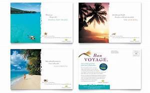 Travel Agency Postcard Template Design