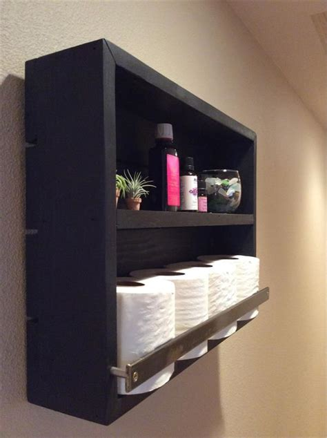 diy pallet bathroom wall shelf pallet furniture plans