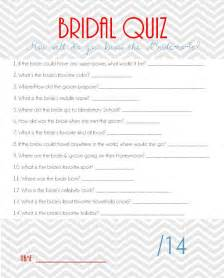 Trivia Questions For Bridal Shower bridal shower game bridal quiz by arodgersdesigns on etsy