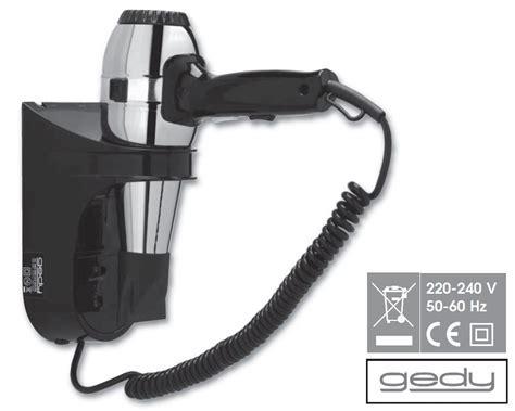 Gedy Grecale Bathroom Hair Dryer with Shaver Socket Black