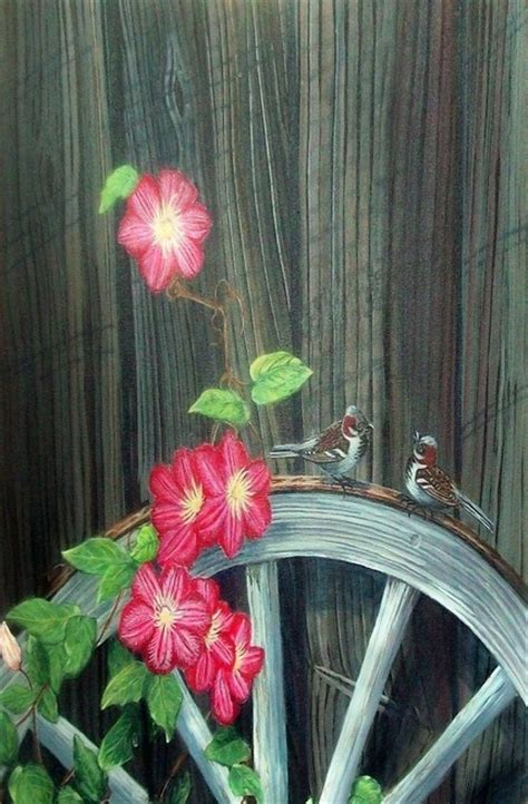 images  wagon wheels  pinterest gardens