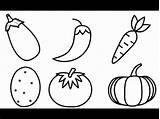 Drawing Kindergarten Vegetable Worksheets Urbancityarch Ables Ve Fried Coloring sketch template