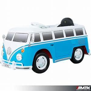 Voiture Electrique Enfant : voiture lectrique pour enfant vw combi bleu 12volts ~ Nature-et-papiers.com Idées de Décoration