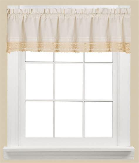 saturday heritage lace kitchen curtain window