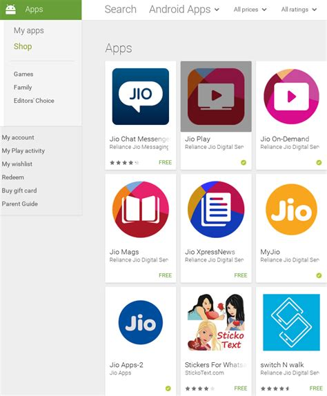 reliance jio releases version 2 of its app suite on play beta store