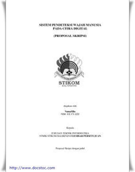 Contoh Proposal Judul Skripsi - Skripsi - CARApedia