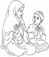 Islam Mewarnai Familyholiday Fasting Gambarcoloring Bahagia Mewarna Canailles Islamiques Tites sketch template
