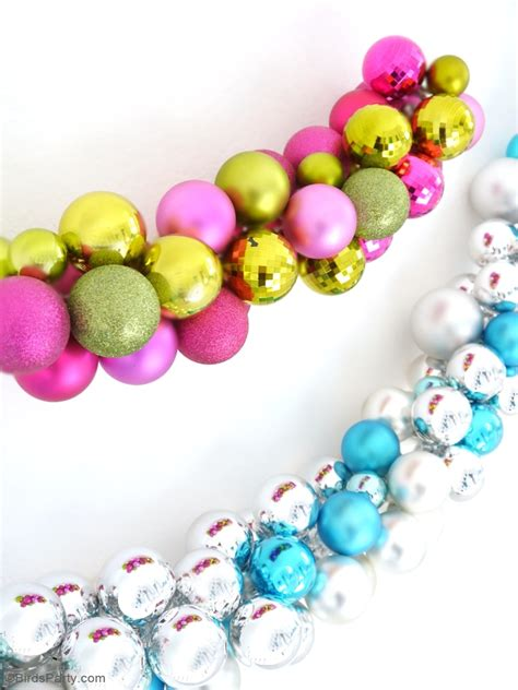 diy christmas ornament baubles garland party ideas