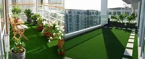 Gazon Artificiel Balcon : gazon artificiel sur un balcon ~ Edinachiropracticcenter.com Idées de Décoration