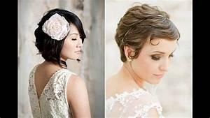 Coiffure Mariage Cheveux Courts Photos : coiffure pour mariage cheveux court youtube ~ Melissatoandfro.com Idées de Décoration