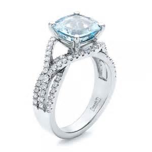 custom aquamarine and engagement ring 100895 - Aquamarine Wedding Rings
