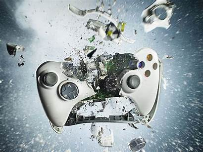 Xbox Wallpapers 360 Games Console Destroyed Controller