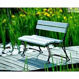 Banc De Jardin Bois : banc de jardin blanc en bois et aluminium 150cm ~ Dode.kayakingforconservation.com Idées de Décoration