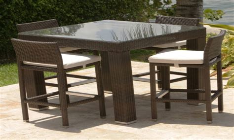 patio furniture high top table and chairs patio
