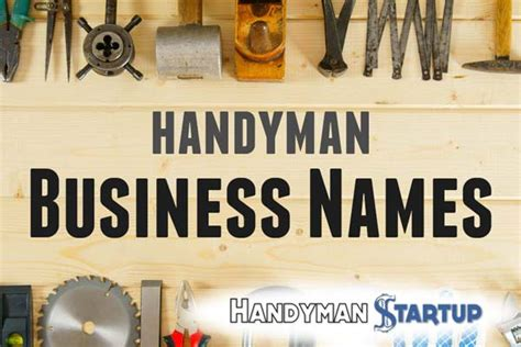 handyman business names  ultimate guide