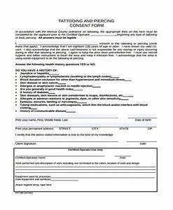 8 tattoo consent form samples free sample example With tattoo release form template