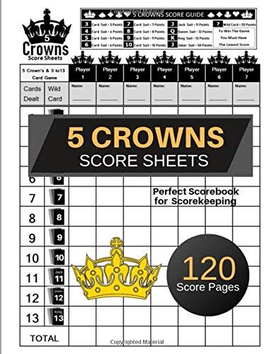 crowns score sheets  crowns game record keeper book