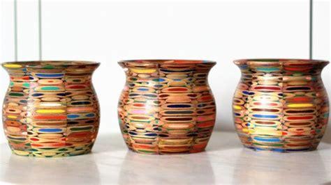 colored pencil vase  eskewwoodworking  etsy color
